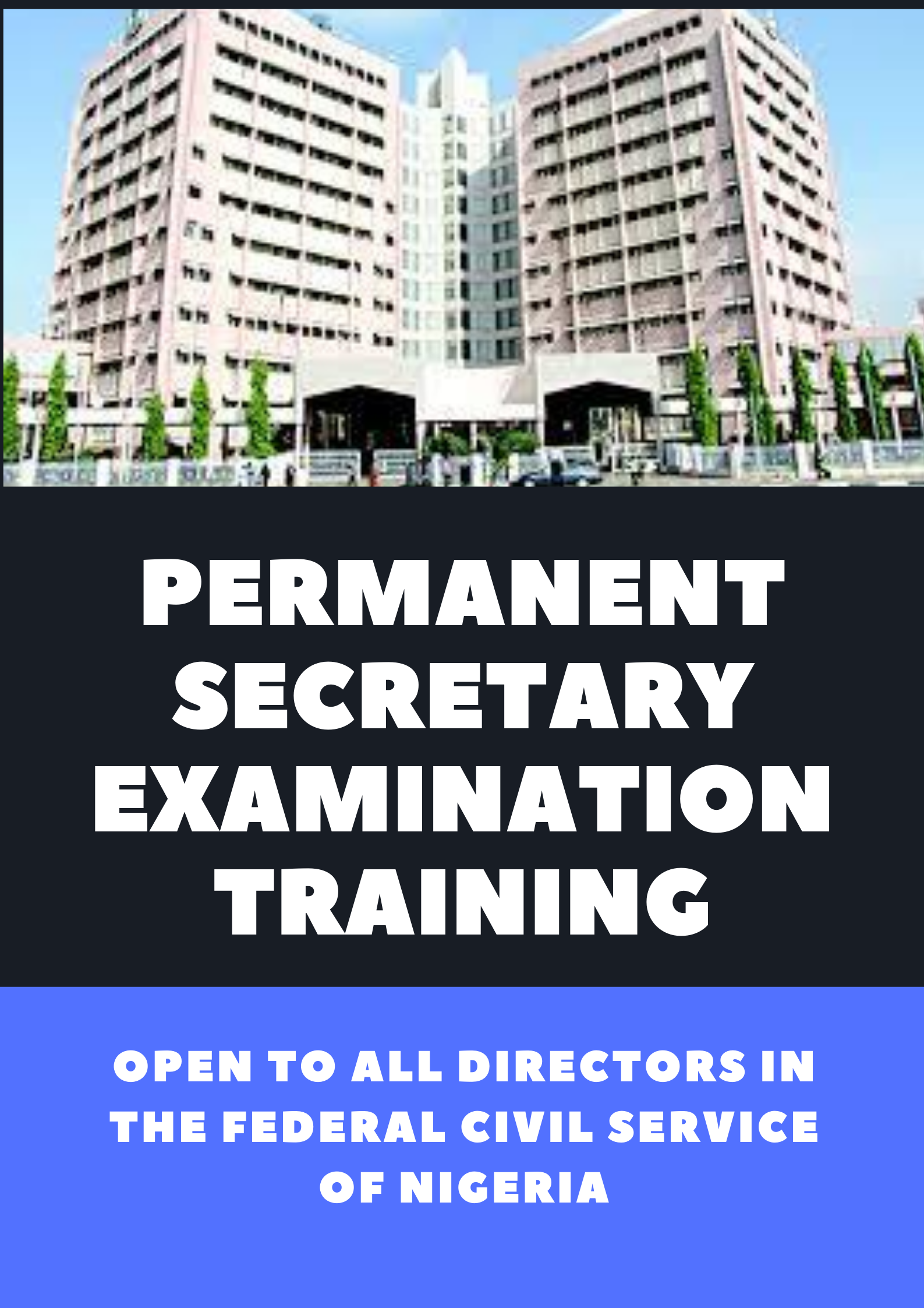 PERMANENT SECRETARY EXAMINATION TRAINING